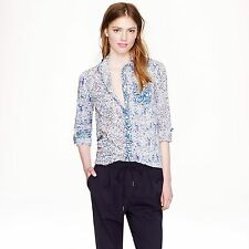 NWT $178 J Crew Boy Shirt in Liberty Mixed Birds/Florals; 6