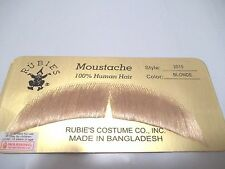 Moustache Human Hair Theatrical Professional Rubies 2012 Grey Brown Blonde Black
