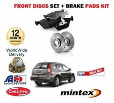 FOR HONDA CRV 2.0 2.2 DTEC DIESEL 2006-2012 FRONT BRAKE DISCS SET + DISC PAD KIT