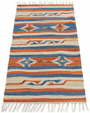 #ITA-64300-2-Kilim Jahnu Tappis Autentic Indian (150X90 CM )Galleria Farah1970