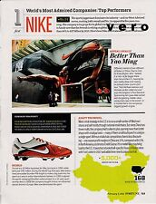 NIKE 2011 magazine ad / report  photo print art clipping shoes sneakers cleats