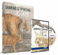 Vic Bearcroft, Drawing and Painting Cats, Book & DVD offer, 10% discount, New