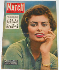 SOPHIA LOREN Paris Match #444 1957 cover & 4 page article magazine clippings