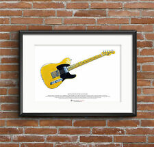 Keith Richards' Fender Telecaster Micawber guitar ART POSTER A3 size