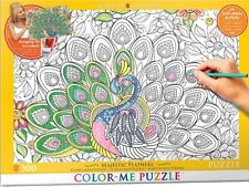 Jigsaw Puzzle Color Me Majestic Feathers 300 pieces NEW Paint it Stress Relief