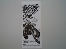 advertising Pubblicità 1980 MOTO SWM RS 347 GS