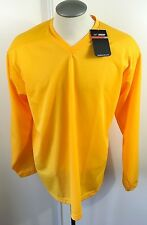 Nike Bauer Hockey Men's Practice Jersey Gold NEW With Tags Size Medium Polyester