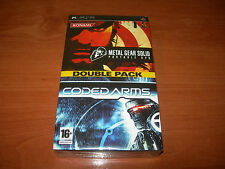 METAL GEAR SOLID PORTABLE OPS + CODED ARMS PSP DOUBLE PACK PAL ESPAÑA PRECINTADO