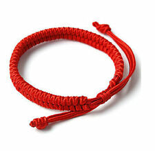 Chinese Women&Men Hand Braided Red Simple Style Lucky String Rope Cord Bracelet