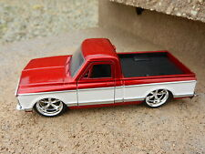 1:32 JADA TOYS *RED & WHITE* 1972 Chevy C-10 Cheyenne Pickup Truck DIECAST NEW