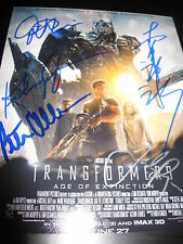 TRANSFORMERS CAST SIGNED POSTER 8x10 PHOTO RARE IN PERSON GRAMMER CULLEN E