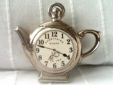 The Teapottery One Cup Ceramic Pocket Watch Teapot Silver