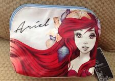 NWT DISNEY LITTLE MERMAID COSMETIC BAG MAKE UP CLUTCH ARIEL SKETCH PRINT