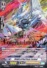1x  CONGRATULATIONS!! Vanguard  Knight of Red Flash, Ferdiad PROMO - 1 MINT CARD