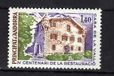 Andorra ( French Post ) : 1980 IV Cent. Restauració Casa de la Vall  New MNH