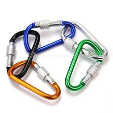 5x Alluminio Moschettone D-Ring Portachiavi Clip Gancio Campeggio Arrampicata