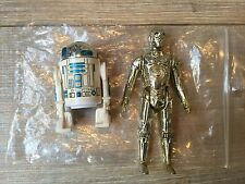 VINTAGE 80'S STAR WARS TOY LOT R2 D2 + C3PO DROIDS ORIGINAL COMPLETE