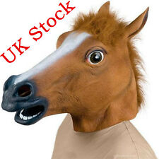 Rubber Horse Head Mask Prop Fancy Dress Party Cosplay Halloween Adult Costume #0