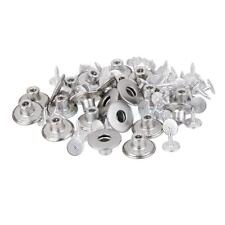 50 NO-SEW METAL JEANS BUTTON RIVET HAMMER ON TROUSERS DIY REPAIR 17MM SILVER