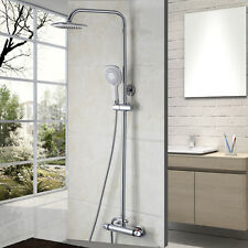 Best Seller Chrome Bathroom Thermostatic Wall Mount Faucet W/ Hand Shower Set