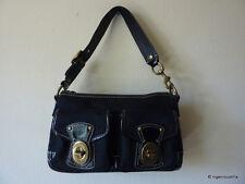 COACH Legacy Black Signature Turnlock Bag