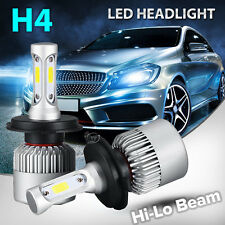 Pair H4 9003 HB2 120W 12000LM COB LED Headlight Kit White Light Bulbs Hi-Lo Beam