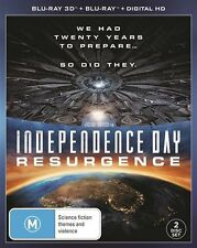 Independence Day - Resurgence (3D Blu-ray, 2016, 2-Disc Set) (Region B) Aussie
