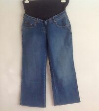 NEXT Blue faded denim Over the bump Maternity Jeans Size 12 ex condition