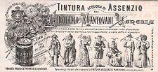 PUBBLICITA' TINTURA DI ASSENZIO  MANTOVANI VENEZIA FARMACIA NAPOLEONE 1900