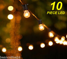 10 Piece LED Vintage Edison Clear Festoon / Party Light Kit
