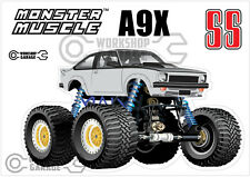 Holden Torana A9X SS MONSTER 4X4 Sticker - White with Simmons - MONSTER MUSCLE