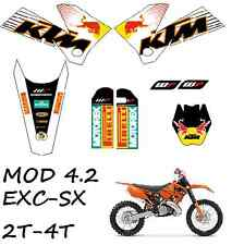 kit pegatinas ktm exc-sx 125-525 2005, 2006, 2007 sticker, adhesivos, graphics