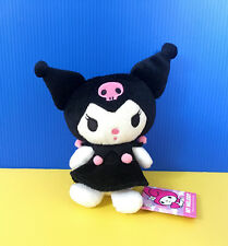 BNWT Sanrio FuRyu 14cm Kuromi My Melody Black Pink Dress plush soft toy doll