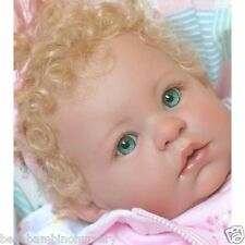 ~KeMpEr SuSiE SyNtHeTiC  MoHaiR WiG StRaWbErRy BLoNdE 16/17 REBORN DOLL SUPPLIES
