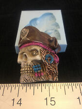 SKULL PIRATE SILICONE MOLD #316 CANDLE,SOAP,RESIN, CHOLOCATE, FAVORS, SUGARCRAFT