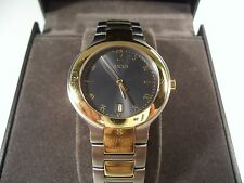 AUTHENTIC MEN'S GUCCI WATCH 8905M BICO CHARCOAL GREY/BRAC TWO TONED