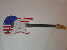 RICHARD MARX SIGNED USA FLAG ELECTRIC STRAT GUITAR RIGHT HERE WAITING PROOF
