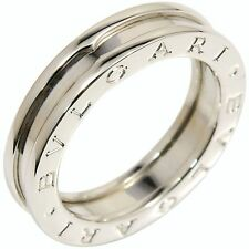 Authentic BVLGARI BULGARI White Gold 18k B-Zero 1 Ring XS US7 EU54 Q873