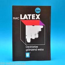 PVAC Latex-Farben   Deckfarbe 1977   DDR Werbung Werbezettel Fürstenwalde C