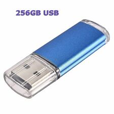 2 Sleek BLUE 256GB BRAND NEW USB 2.0 Thumb Pen Flash Drive Memory Stick Storage
