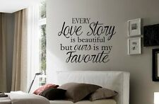 LOVE STORY Romantic Marriage Wall Art Decal Quote Words Lettering Decor Design