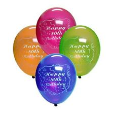 80th Birthday Party (Age 80) ASSORTED COLOR BALLOONS
