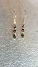 SILVER PAGAN, WICCAN, SPIRAL EARTH GODDESS  EARRINGS  USA261-1