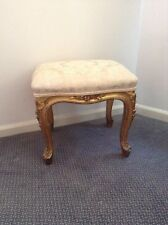 Antique French Gilt wood Serpentine Stool Of Beautiful Proportion