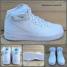 SZ 8.5 Nike Air Force 1 Mid 07 LV8 AF1 804609-100 Triple White