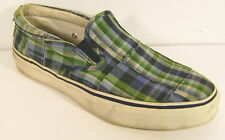 SPERRY TOP SIDER GREEN & BLUE PLAID DECK LOAFER SHOE MENS 8M