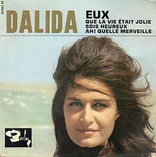 "DALIDA. EUX. SOIS HEUREUX. RARE FRENCH EP 7"" 45 1963 GIRL POP"