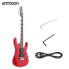 "ammoon 38"" Electric Guitar 6String 24 Frets Solid Wood Basswood Body Red US A7A8"
