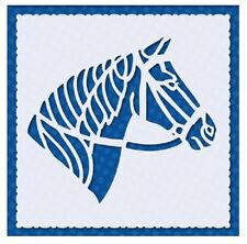 Flexible Stencil *HORSE* Embossing Pricking Masking Card Making - 9.5cm x 9.5cm