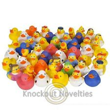 50 Rubber Duck Assortment Fifty Yellow Ducky Ducks Vinyl 2 Inches Colors Variety